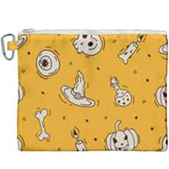 Funny Halloween Party Pattern Canvas Cosmetic Bag (xxxl)