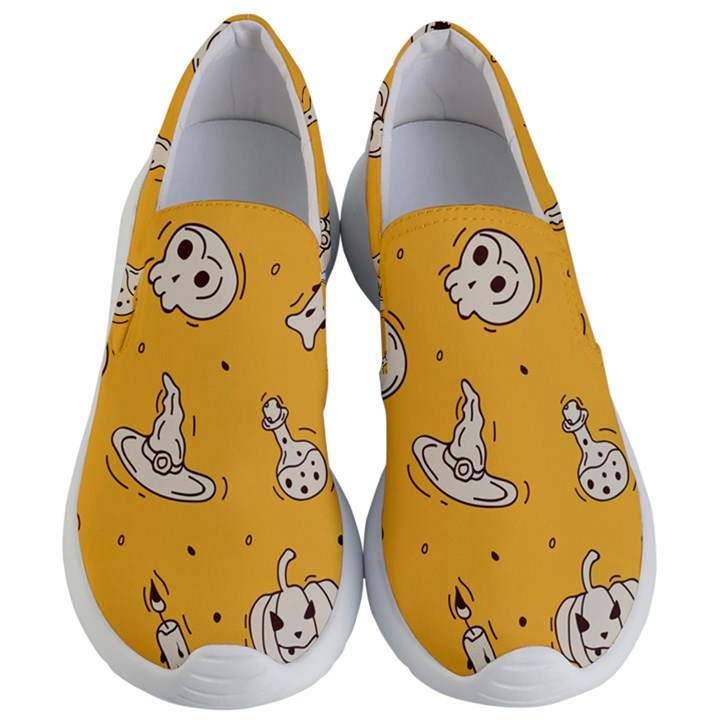 Funny Halloween Party Pattern Women s Lightweight Slip Ons