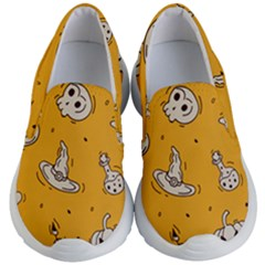 Funny Halloween Party Pattern Kid s Lightweight Slip Ons