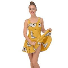 Funny Halloween Party Pattern Inside Out Casual Dress