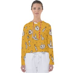 Funny Halloween Party Pattern Women s Slouchy Sweat