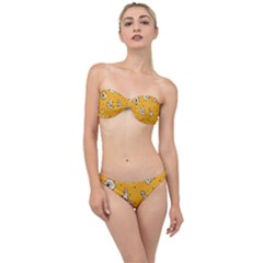 Funny Halloween Party Pattern Classic Bandeau Bikini Set