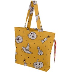 Funny Halloween Party Pattern Drawstring Tote Bag