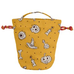 Funny Halloween Party Pattern Drawstring Bucket Bag by HalloweenParty