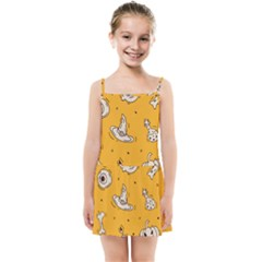Funny Halloween Party Pattern Kids Summer Sun Dress