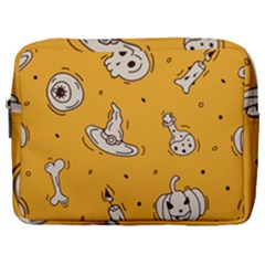 Funny Halloween Party Pattern Make Up Pouch (large) by HalloweenParty