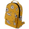 Funny Halloween Party Pattern Flap Pocket Backpack (Small) View1