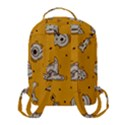Funny Halloween Party Pattern Flap Pocket Backpack (Small) View3