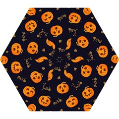 Funny Scary Black Orange Halloween Pumpkins Pattern Mini Folding Umbrellas