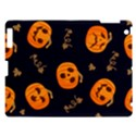 Funny Scary Black Orange Halloween Pumpkins Pattern Apple iPad 3/4 Hardshell Case View1