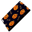 Funny Scary Black Orange Halloween Pumpkins Pattern Apple iPad 3/4 Hardshell Case View4