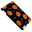 Funny Scary Black Orange Halloween Pumpkins Pattern Apple iPad 3/4 Hardshell Case View5