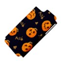 Funny Scary Black Orange Halloween Pumpkins Pattern Apple iPhone 5 Hardshell Case (PC+Silicone) View4