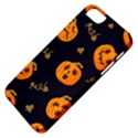 Funny Scary Black Orange Halloween Pumpkins Pattern Apple iPhone 5 Classic Hardshell Case View4