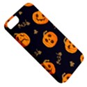 Funny Scary Black Orange Halloween Pumpkins Pattern Apple iPhone 5 Classic Hardshell Case View5