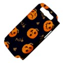 Funny Scary Black Orange Halloween Pumpkins Pattern Samsung Galaxy S III Hardshell Case (PC+Silicone) View4
