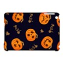 Funny Scary Black Orange Halloween Pumpkins Pattern Apple iPad Mini Hardshell Case (Compatible with Smart Cover) View1