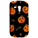 Funny Scary Black Orange Halloween Pumpkins Pattern Samsung Galaxy S3 MINI I8190 Hardshell Case View2