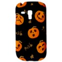Funny Scary Black Orange Halloween Pumpkins Pattern Samsung Galaxy S3 MINI I8190 Hardshell Case View3