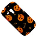 Funny Scary Black Orange Halloween Pumpkins Pattern Samsung Galaxy S3 MINI I8190 Hardshell Case View5
