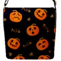 Funny Scary Black Orange Halloween Pumpkins Pattern Removable Flap Cover (S) View1