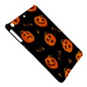 Funny Scary Black Orange Halloween Pumpkins Pattern iPad Air Hardshell Cases View5
