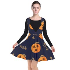 Funny Scary Black Orange Halloween Pumpkins Pattern Other Dresses
