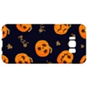 Funny Scary Black Orange Halloween Pumpkins Pattern Samsung Galaxy S8 Plus Hardshell Case  View1