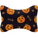Funny Scary Black Orange Halloween Pumpkins Pattern Seat Head Rest Cushion View1