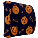 Funny Scary Black Orange Halloween Pumpkins Pattern Back Support Cushion View2