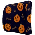 Funny Scary Black Orange Halloween Pumpkins Pattern Back Support Cushion View3