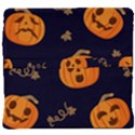 Funny Scary Black Orange Halloween Pumpkins Pattern Back Support Cushion View4