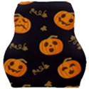 Funny Scary Black Orange Halloween Pumpkins Pattern Car Seat Velour Cushion  View1