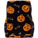 Funny Scary Black Orange Halloween Pumpkins Pattern Car Seat Velour Cushion  View2