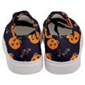 Funny Scary Black Orange Halloween Pumpkins Pattern Women s Classic Low Top Sneakers View4
