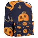 Funny Scary Black Orange Halloween Pumpkins Pattern Giant Full Print Backpack View3