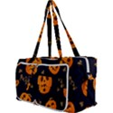 Funny Scary Black Orange Halloween Pumpkins Pattern Multi Function Bag View3