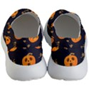 Funny Scary Black Orange Halloween Pumpkins Pattern Men s Lightweight Slip Ons View4