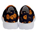 Funny Scary Black Orange Halloween Pumpkins Pattern Velcro Strap Shoes View4