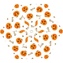 Funny Spooky Halloween Pumpkins Pattern White Orange Mini Folding Umbrellas