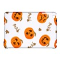 Funny Spooky Halloween Pumpkins Pattern White Orange Apple iPad Mini Hardshell Case (Compatible with Smart Cover) View1