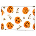 Funny Spooky Halloween Pumpkins Pattern White Orange iPad Air Hardshell Cases View1