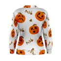 Funny Spooky Halloween Pumpkins Pattern White Orange Women s Sweatshirt View2