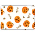 Funny Spooky Halloween Pumpkins Pattern White Orange Apple iPad Pro 9.7   Hardshell Case View1