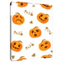 Funny Spooky Halloween Pumpkins Pattern White Orange Apple iPad Pro 9.7   Hardshell Case View2
