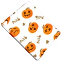Funny Spooky Halloween Pumpkins Pattern White Orange Apple iPad Pro 9.7   Hardshell Case View4