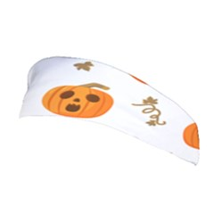 Funny Spooky Halloween Pumpkins Pattern White Orange Stretchable Headband