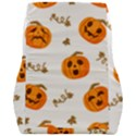 Funny Spooky Halloween Pumpkins Pattern White Orange Car Seat Back Cushion  View2