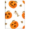 Funny Spooky Halloween Pumpkins Pattern White Orange Apple iPad Pro 10.5   Flip Case View1