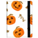 Funny Spooky Halloween Pumpkins Pattern White Orange Apple iPad Pro 10.5   Flip Case View2